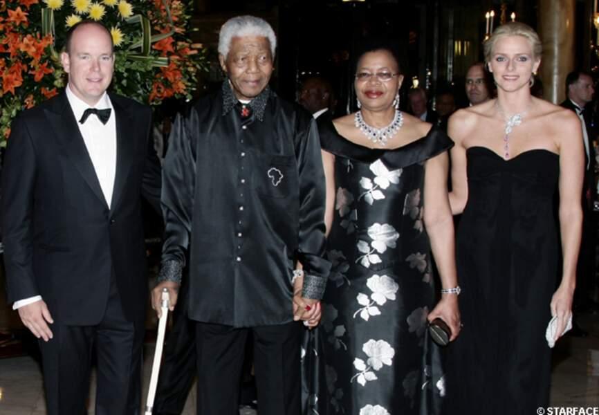 Nelson Mandela et Albert II de Monaco