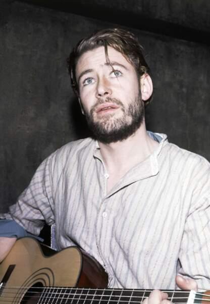 Peter O'Toole joue de la guitare en 1963