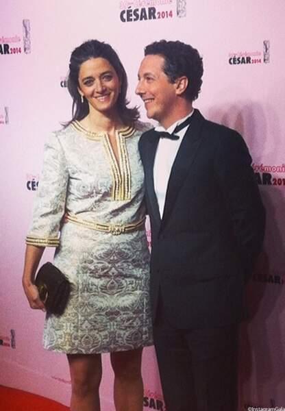 Guillaume Gallienne, grand vainqueur des Césars 2014 et sa femme Amandine