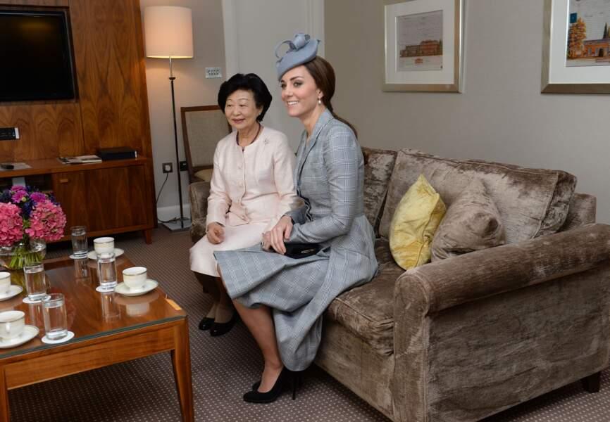 La princesse et la first lady sont ravies de se retrouver