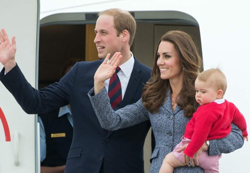 La famille royale arrive en Australie