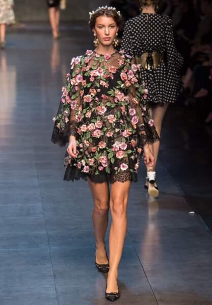 Vestale champêtre chez Dolce & Gabbana