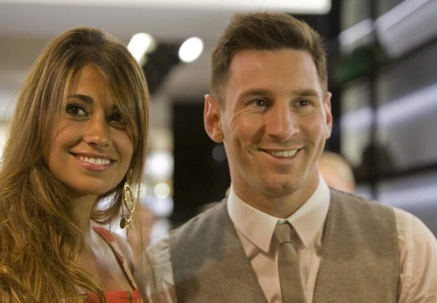 La superstar argentine du Barca Lionel Messi avec sa compagne Antonella