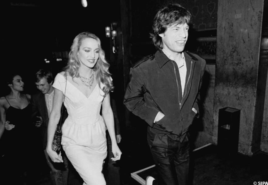 Mick Jagger et Jerry Hall, dans leurs premières années