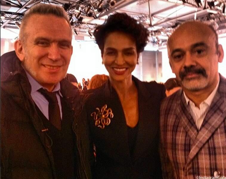 Jean Paul Gaultier, Farida Khelfa et Christian Louboutin
