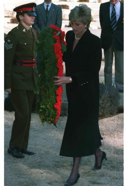 En 1995, la princesse Diana s'était rendue dans le même cimetière visité par le Prince William