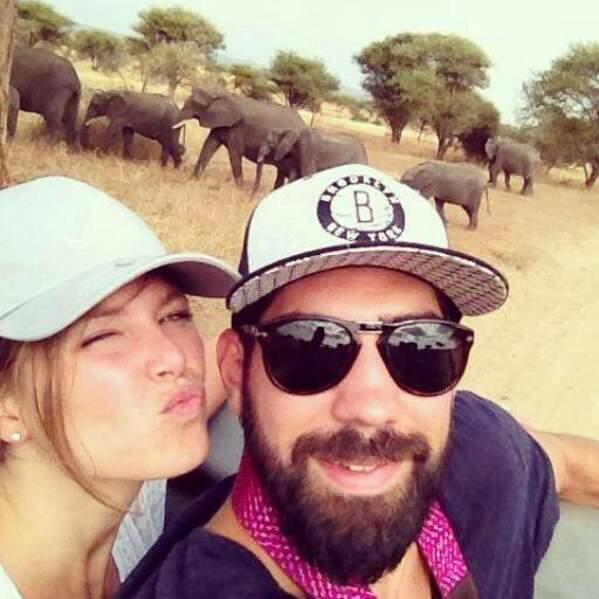 Nikola Karabatic et sa compagne en safari