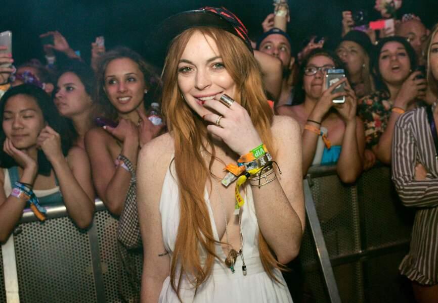 La casquette de Lindsay Lohan