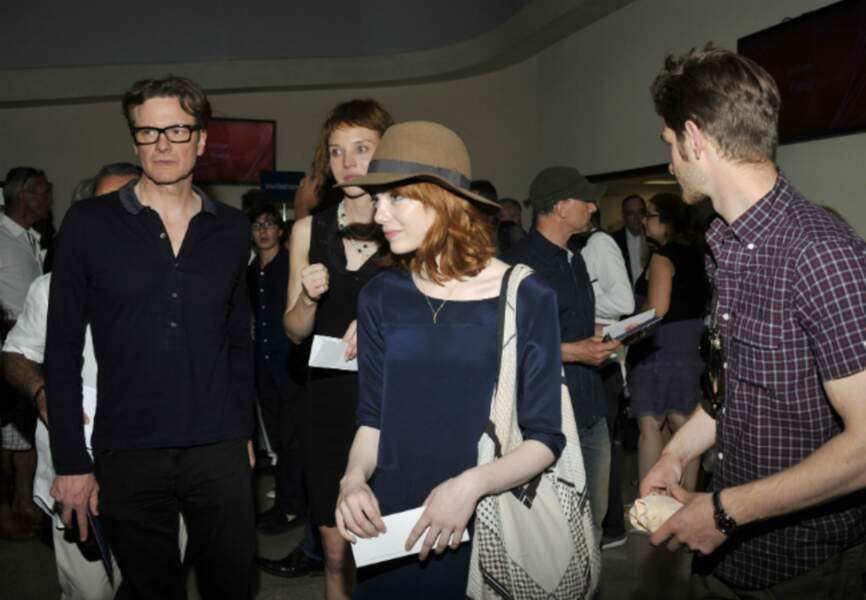 Colin Firth, Emma Stone et Adrew Garfield