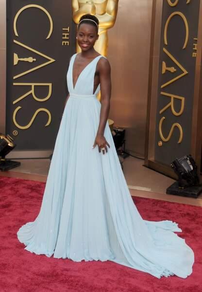 Lupita Nyong'o aux Oscars en 2014