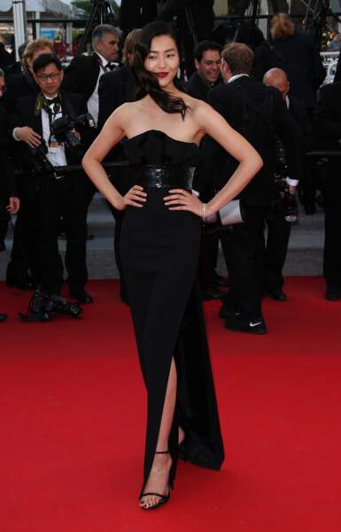Liu Wen en Saint Laurent