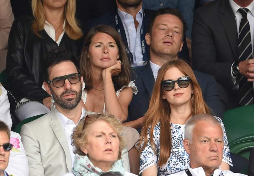 Sacha Baron Cohen et Isla Fisher devant Jamie Oliver et Juliette Norton