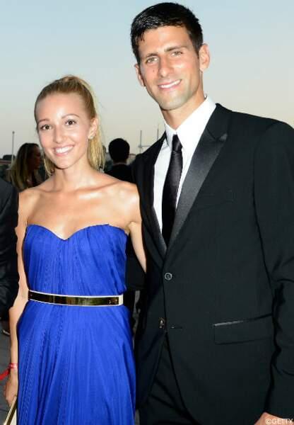 Le joueur de tennis Novak Djokovic et son amie Jelena Ristic