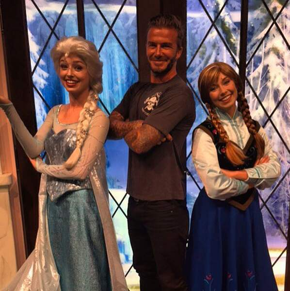 Cet été, David Beckham est devenu le héros de Harper en posant avec les princesses de la Reine des Neige