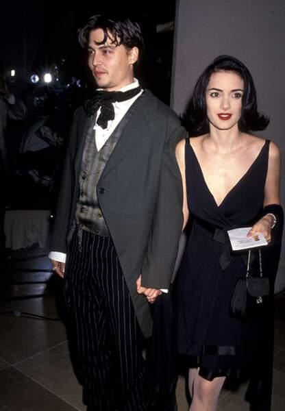 Avec Winona Ryder, en 1991
