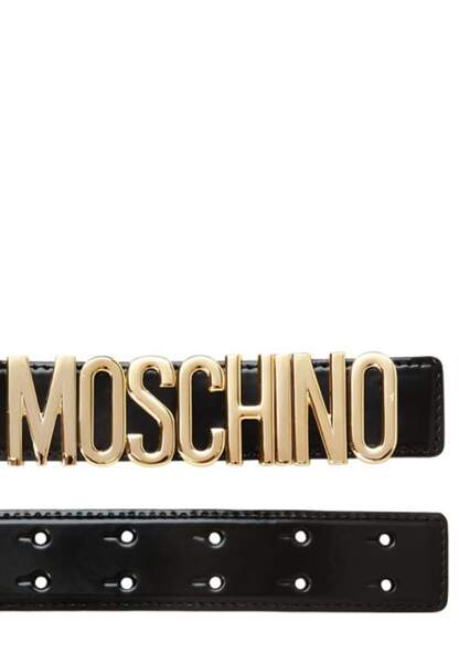 Moschino, ceinture en cuir, 205€