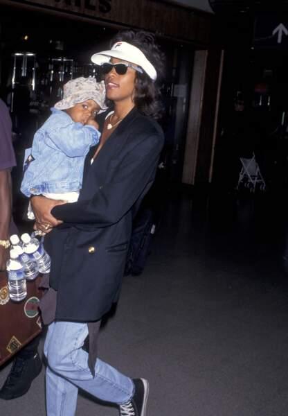 Bobbi et Whitney en juin 1995