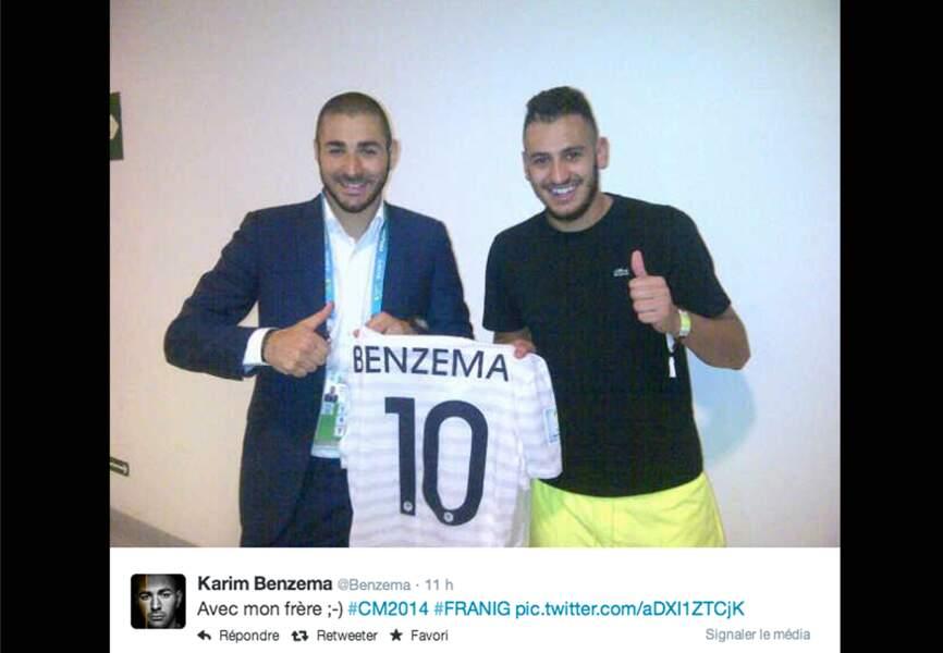 Karim Benzema et son frère