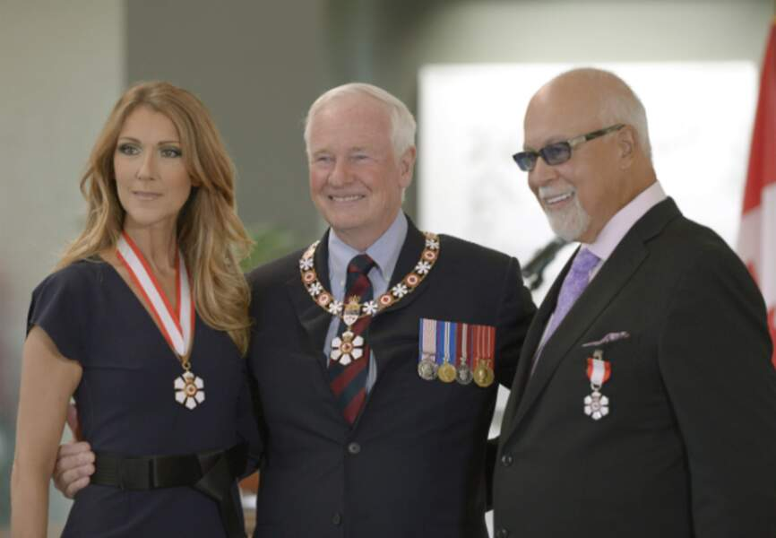 Céline Dion, David Johnston et René Angelil