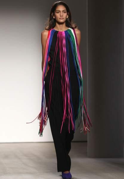 Franges ultralongues et colorées chez Barbara Casasola