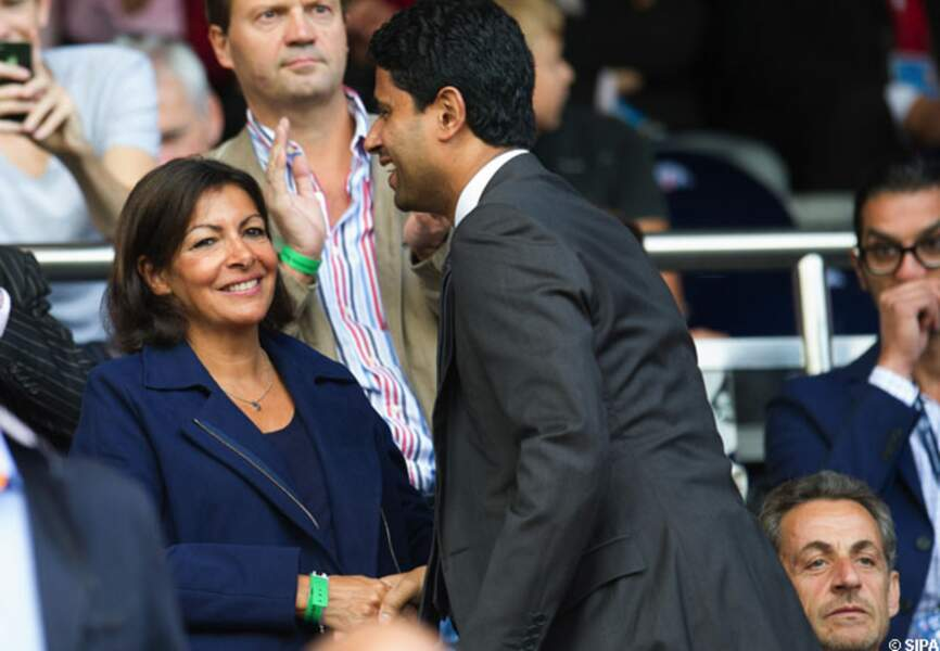 Anne Hidalgo et Nasser Al-Khelaifi (pdt du PSG)