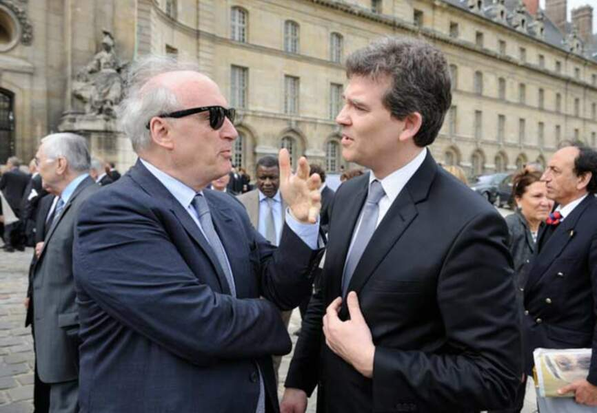 Hubert Védrine et Arnaud Montebourg