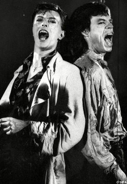 Mick Jagger et David Bowie chantent Dancing in the street