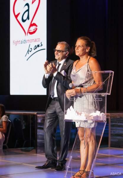 Stéphanie de Monaco au côté de Marc Toesca