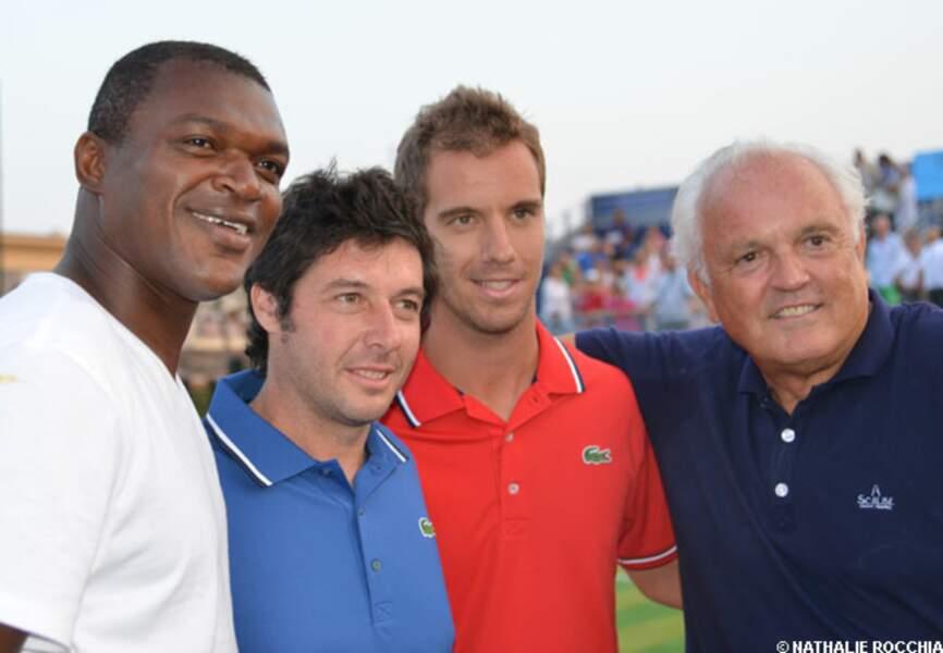 Marcel Dessaily, Sébastien Grosjean, Richard Gasquet et Christian Bîmes