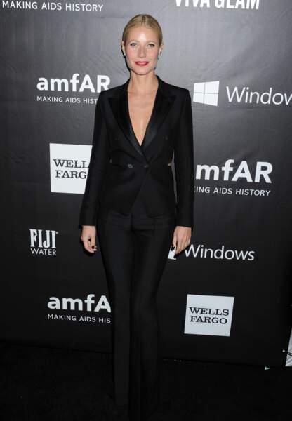Gwyneth Paltrow en smoking chic et sexy signé Tom Ford