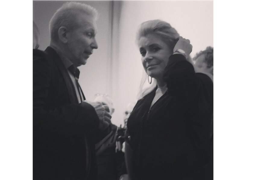 Le créateur Jean Paul Gaultier et l'actrice Catherine Deneuve