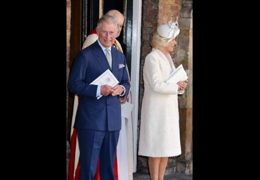 La duchesse de Cornouailles en total-look blanc