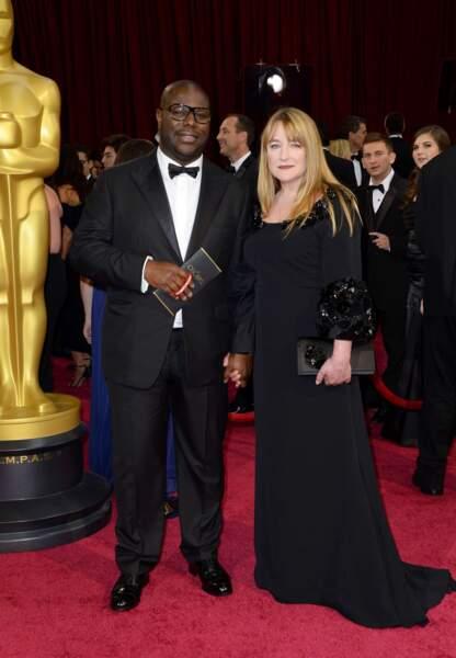 Steeve McQueen, le réalisateur de 12 Years a Slave, avec sa compagne Bianca Stigter