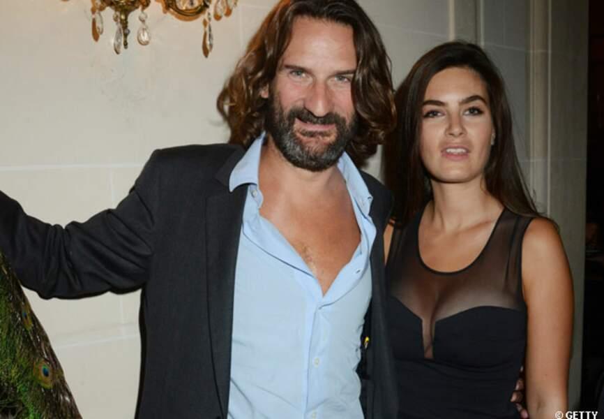 Frédéric Beigbeder et Lara à la soirée de lancement du magazine LUI