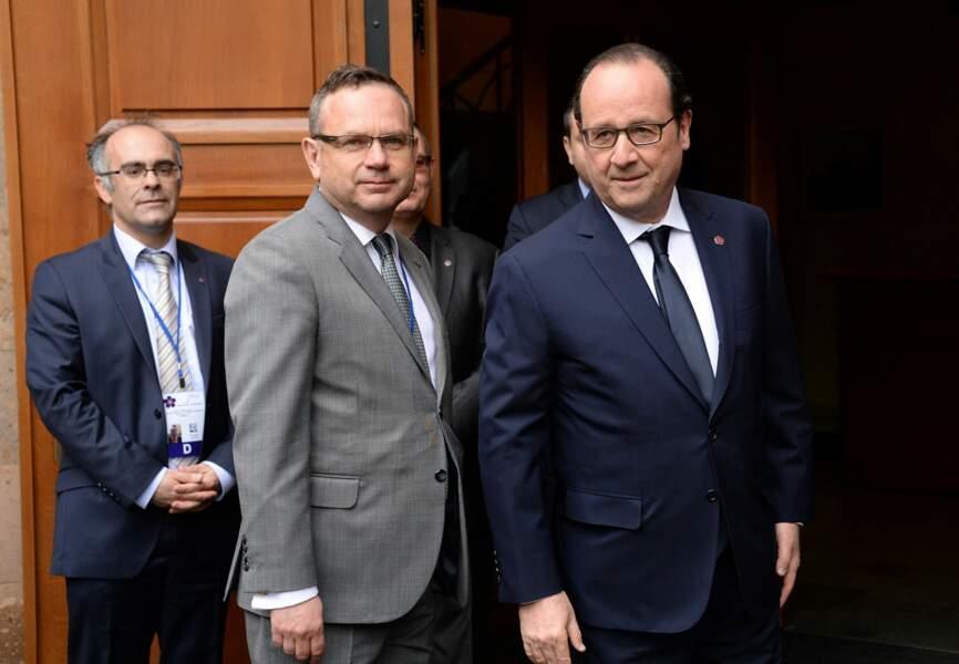 François Hollande avec Jean-François Charpentier, ambassadeur de France en Arménie