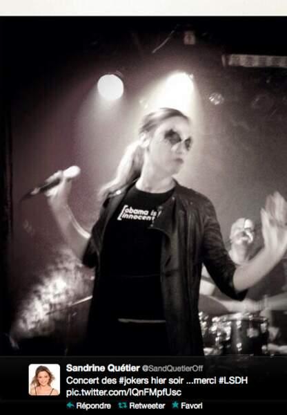 Sandrine Quétier sur scène