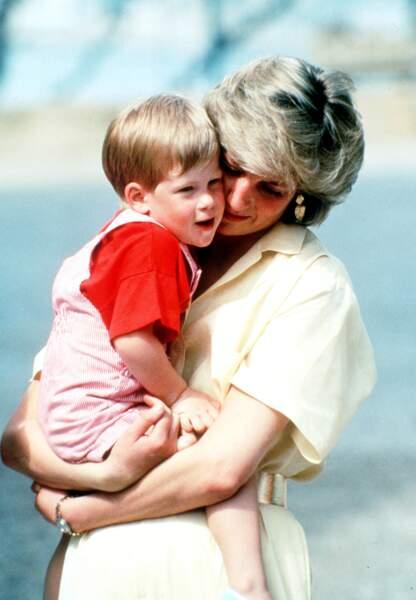 Prince Harry et sa mère, Lady Diana