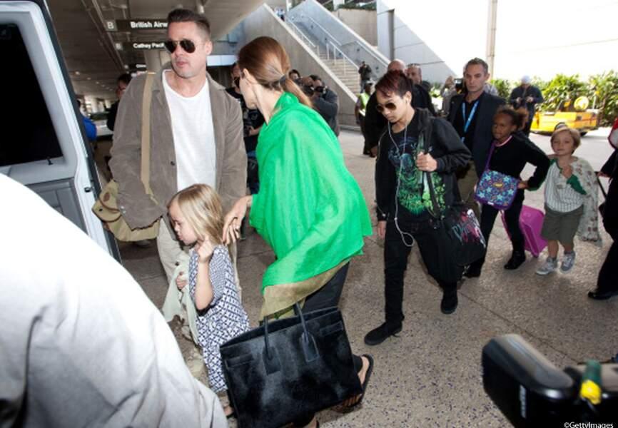 Après cinq mois de tournage, la famille Pitt-Jolie est de retour aux Etats-Unis