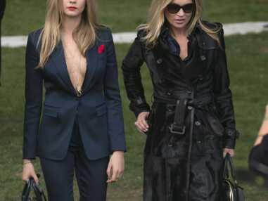 Kate Moss et Cara Delevigne, égéries Burberry et complices