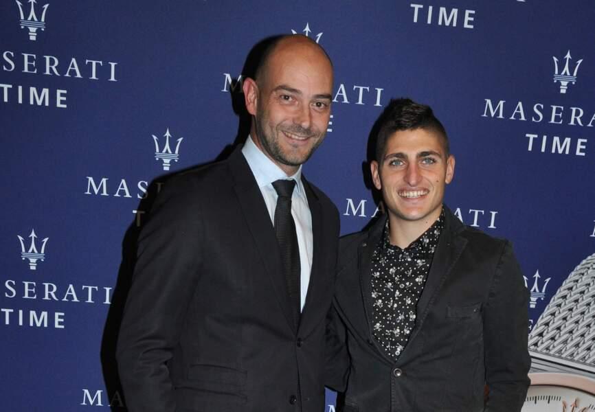 Marco Verratti et Guido Giovannelli (Directeur Général de Maserati West Europe)