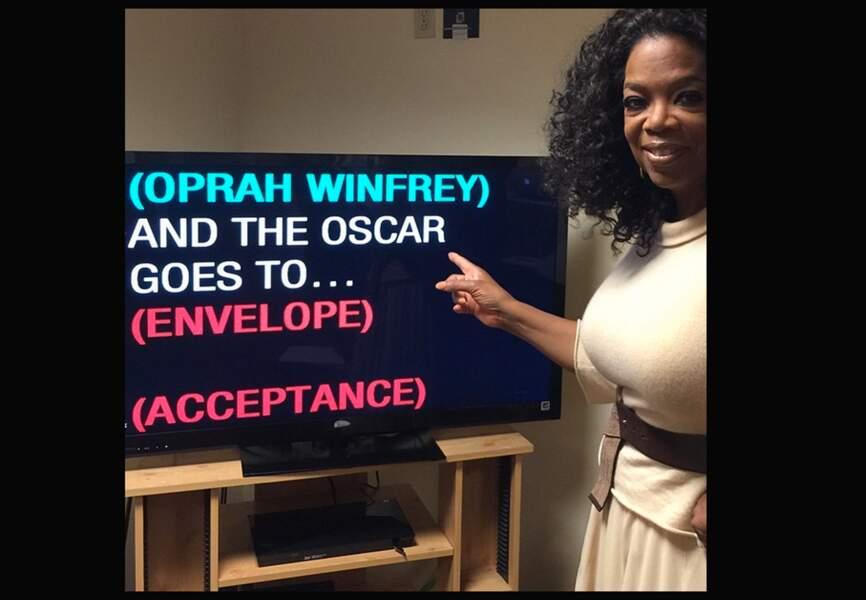 Oprah Winfrey pendant ses répétitions