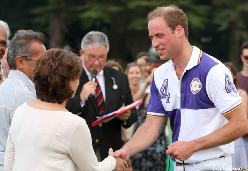 Le prince William va à la rencontre des spectateurs