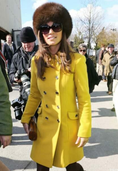 Pippa Middleton au Chattenham Festival, le 14 mars