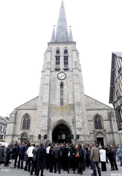 L'église de Nemours où s'est déroulée l'enterrement de Gérald Babin