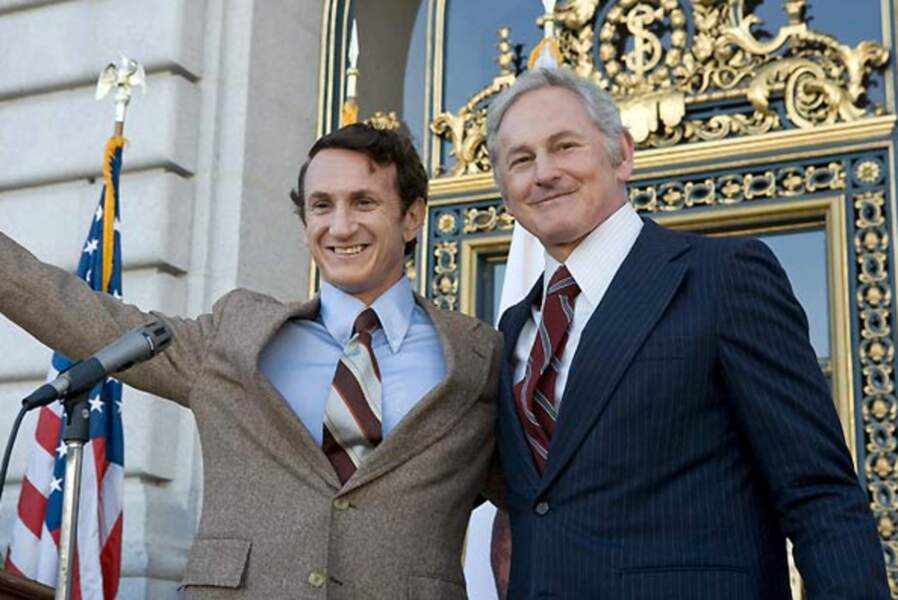 En 2008, Sean Penn retrace la vie d'Harvey Milk. Sean Penn est récompensé par un Oscar
