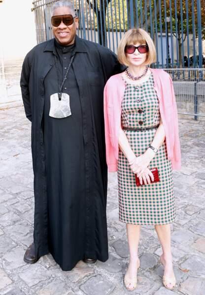 Anna Wintour et Andre Leon