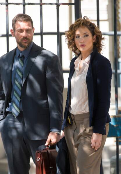 Jennifer Lopez en plein tournage