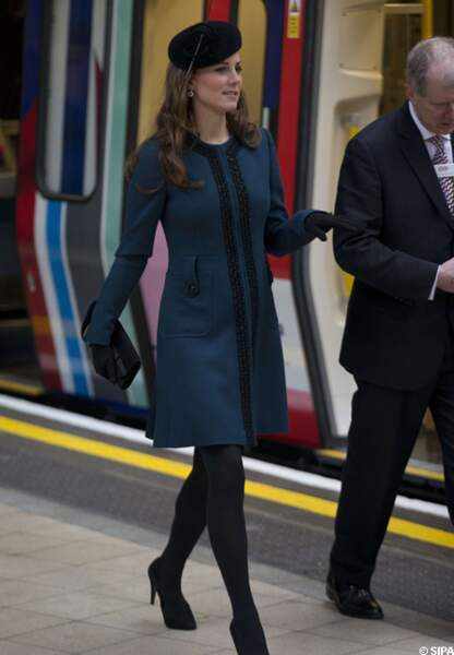 Kate Middleton dans son manteau Malene Birger