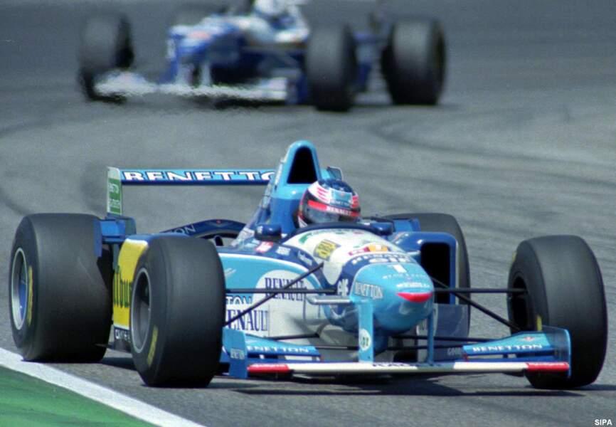 A 25 ans, Schumacher décroche son premier titre mondial en F1 avec Benetton