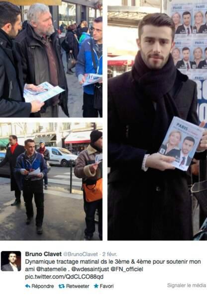 Bruno Clavet, ex candidat de X Factor se présente dans le 3e arrondissement avec le FN